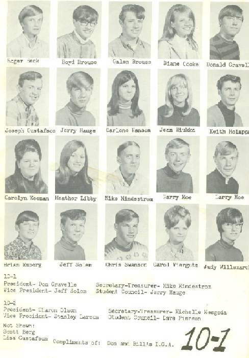 class of 71 page one