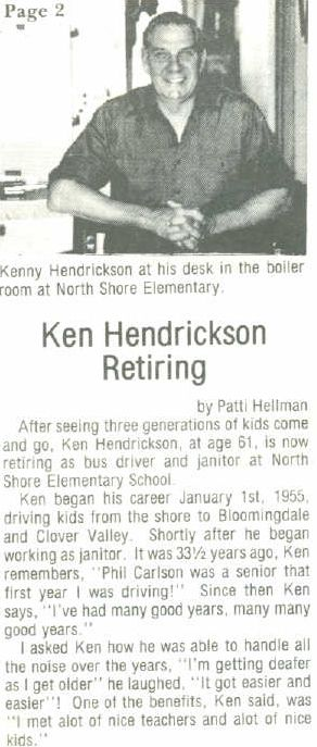 ken hendrickson retirement