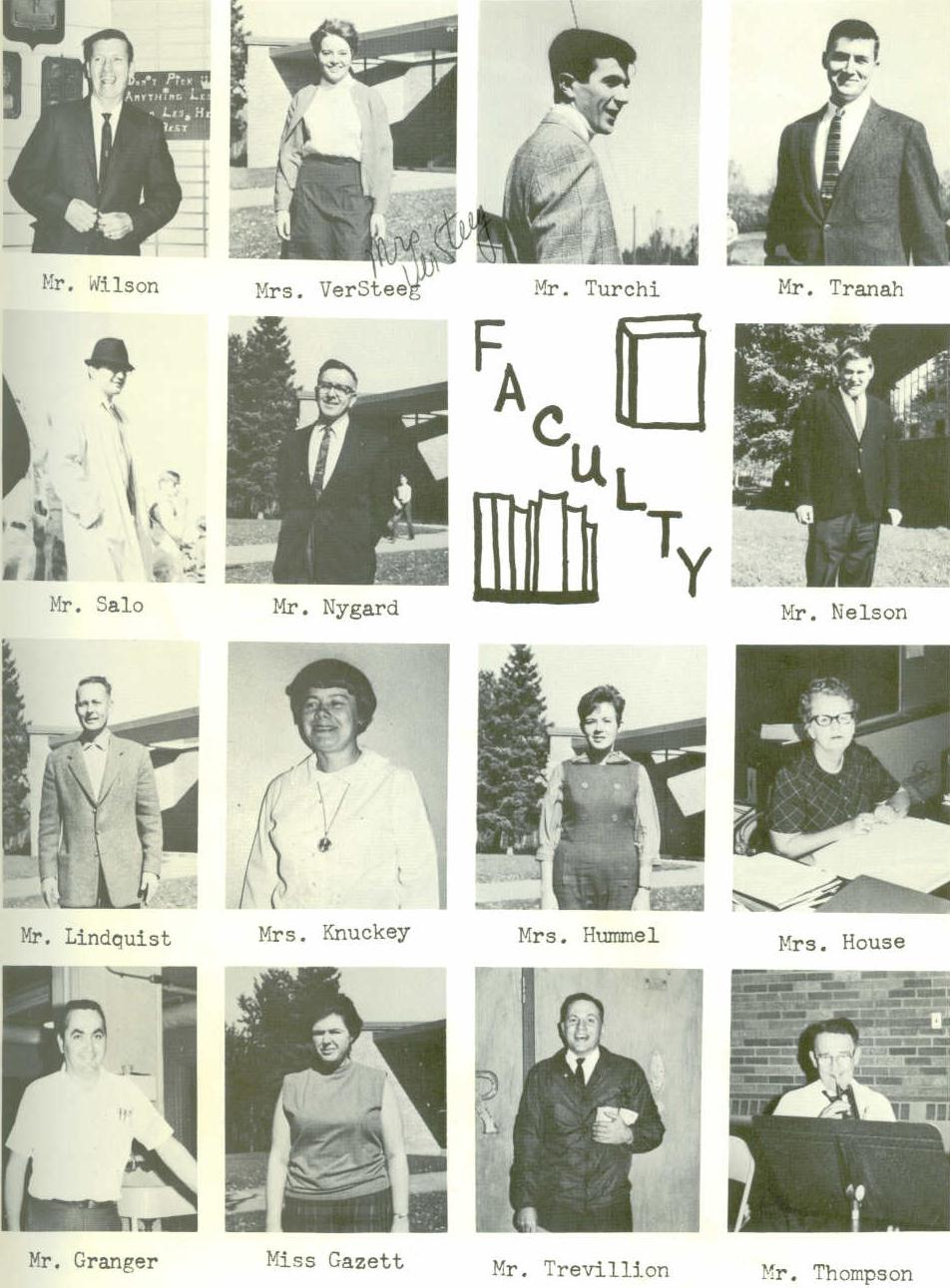 1969 Clover Valley High School Faculty